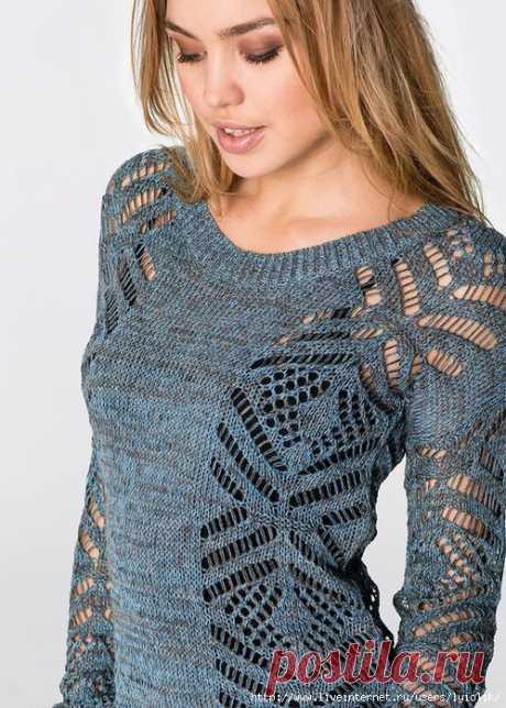 Пуловер (идея для вязания).