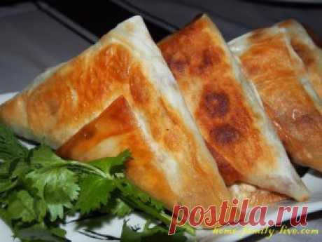 Хрустящие конвертики из лаваша/Сайт с пошаговыми рецептами с фото для тех кто любит готовить