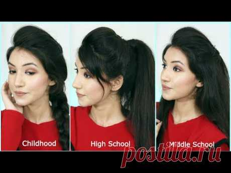 My Favorite Childhood Hairstyle, Middle School Hairstyle And High School Hairstyle | Long Hairstyles - YouTube