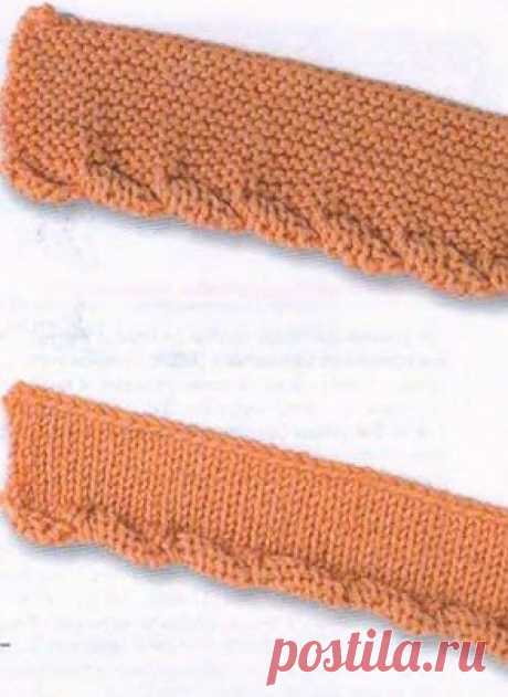 Вязание кромки спицами.