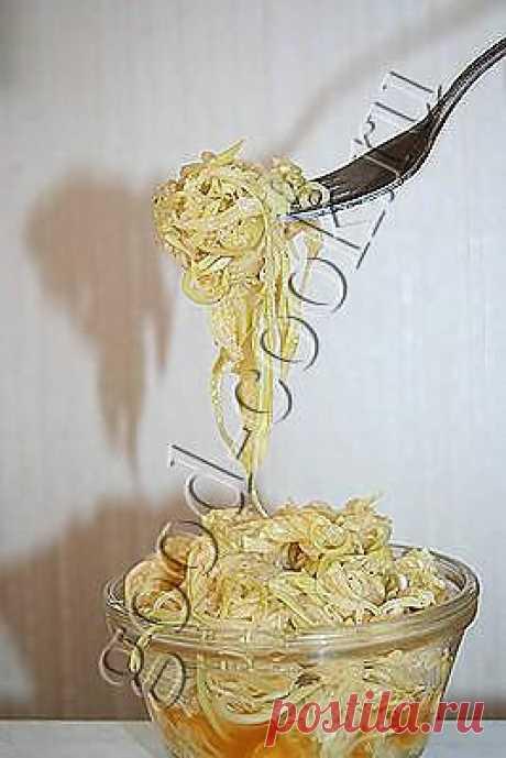 """Хорошая кухня - маринованные кабачковые """"спагетти"""". Кулинарная книга рецептов. Салаты, выпечка."""