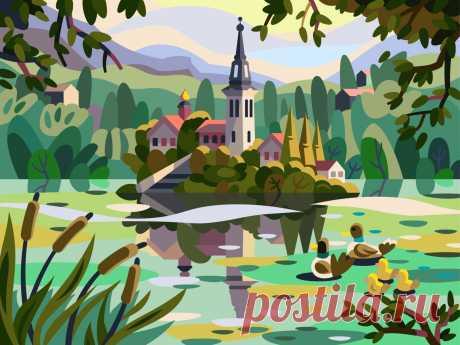 Romantic island by Igor Ianchenko on Dribbble