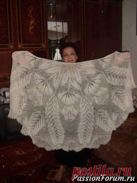Шаль ДАГМАР - запись пользователя Tancha (Татьяна) в сообществе Вязание спицами в категории Вязание шали спицами