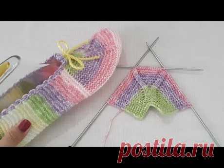 İki Şişle Dikişsiz Çok Kolay Patik Yapılışı / Very Easy Knitting Slippers