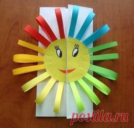 Поделки с детьми: солнечная открытка — Поделки с детьми