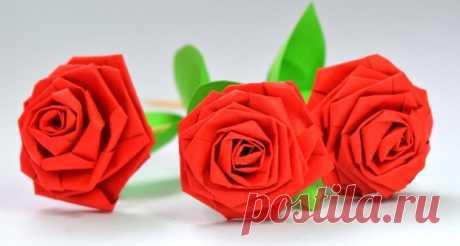 Розы своими руками из бумаги. Пошаговые мастер-классы для начинающих Добрый день! Розы всегда считались одними из самых красивых цветов. Упоминания именно о них так часто встречаются нам в произведениях