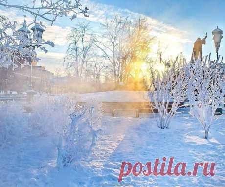 Дивный день в кружении снега, зима не хочет уходить...