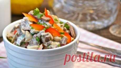 Вкусный салат по-строгановски без единой лишней калории