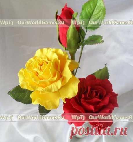 Цветы из фоамирана Цветы из фоамирана Для изготовления раскрытого цветка розы нам необходимо из рулона фома вырезать 18-20 квадратиков со сторонами равными 5х5см и придать им форму капельки, как на первом фото внизу.Гофрировка лепестка розы, возьмите один лепесток розы, сложите его втрое(смотри фото выше) и сильно скрутите, вытягивая вверх. Аккуратно разверните лепесток розы, растягивая центр лепестка по горизонтали, […]
