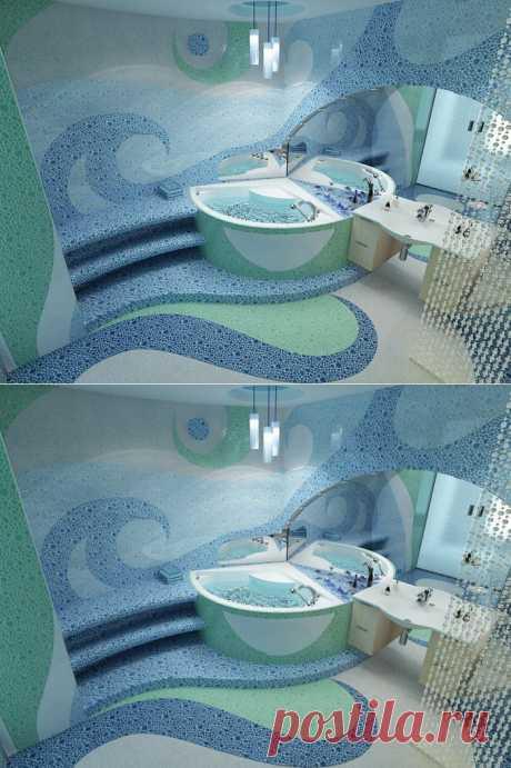 10 идей для ванной комнаты .