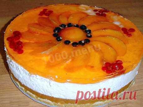 Фруктовый торт без выпечки с желатином и йогуртом рецепт с фото пошагово - 1000.menu