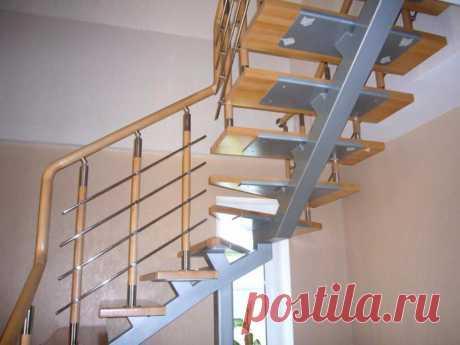 Лестница на металлических косоурах: металла расчет онлайн, одно фото и как сделать своими руками поворот