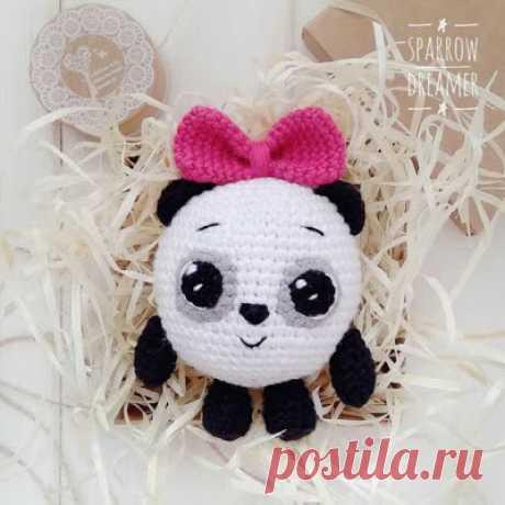 1000 схем амигуруми на русском: Панда из Малышариков