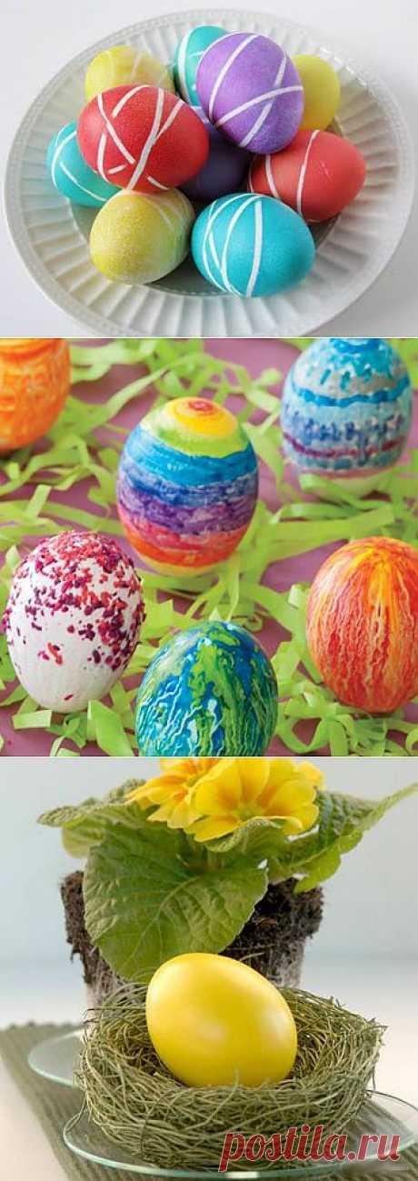 Как красить яйца на пасху.