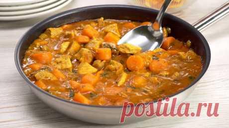 Свинина, тушеная с морковью, в овощном соусе: сочное блюдо на ужин Сочные кусочки обжаренной свинины, тушеные с морковью в овощном соусе на сковороде. Казалось бы, простые и доступные продукты, немного вашего времени и на вашем столе интересное и аппетитное...