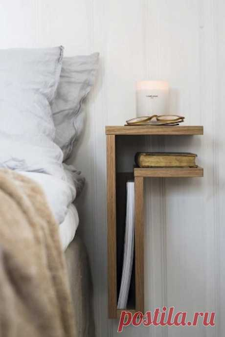 Один из способов оригинально оформить интерьер комнаты - заменить классические прикроватные тумбочки на что-нибудь другое. | Все о ремонте