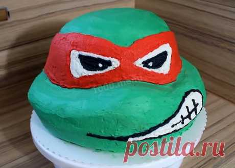 Торт Черепашки ниндзя без мастики рецепт с фото пошагово и видео - 1000.menu