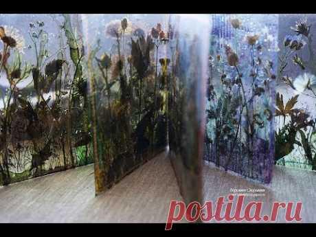 Прозрачный альбом с сухоцветами.