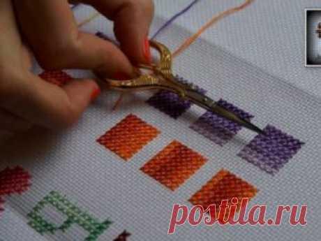 Как правильно вышивать крестиком схемы для начинающих, фото пошагово