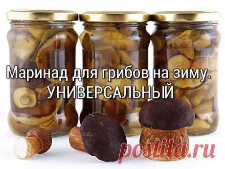 СУПЕР-Маринад для грибов на зиму. Универсальный - Заготовки на зиму лучшие рецепты