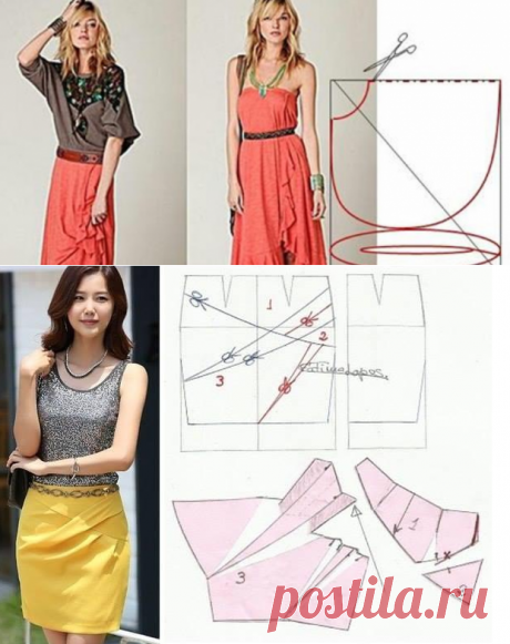 Как сшить юбку своими руками + выкройки