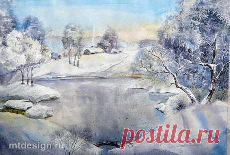 MTdesign » Архив блога » Рисуем зиму акварелью