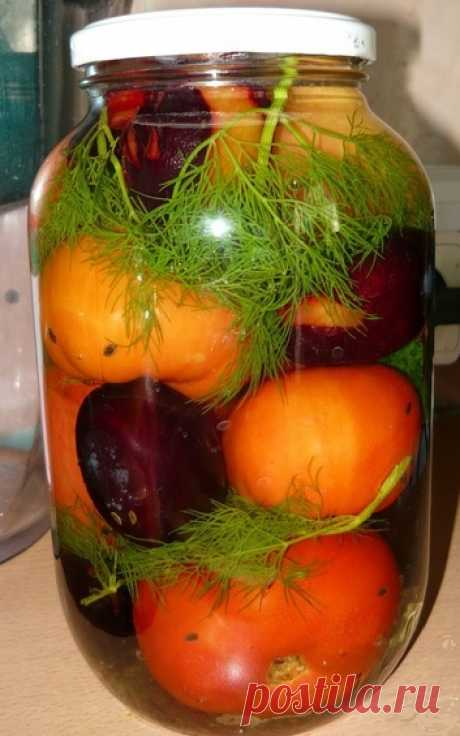 Рецепт маринации помидор со сливами