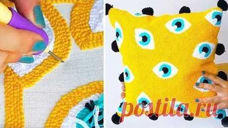 вышиваем иглой для ковровой вышивки