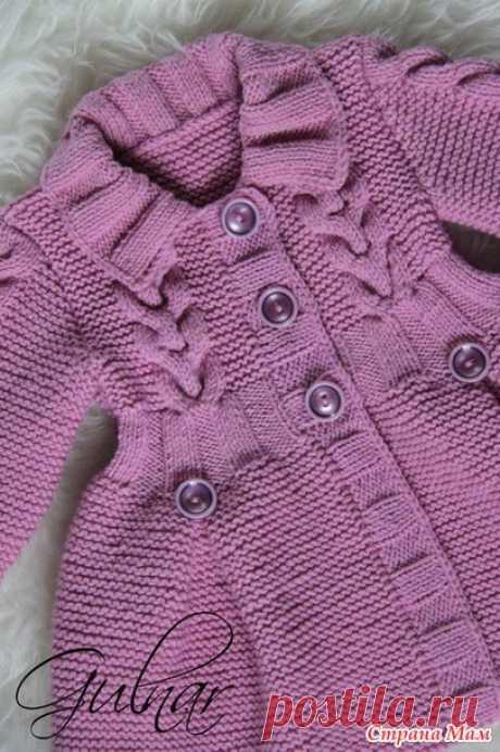 Пальто для девочки Любишь вязать? Люби и вяжи! Вяжем вместе, подписывайтесь