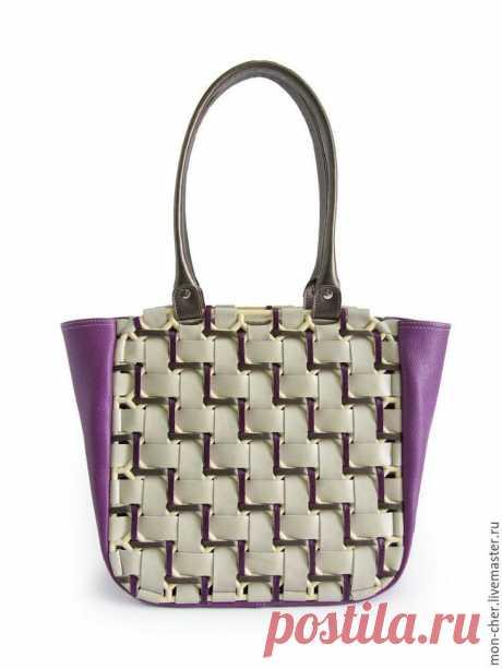 Создаем кожаную сумку «Плетенка»
