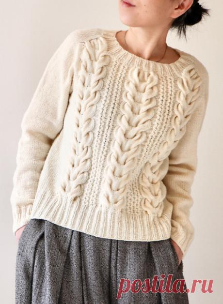 Вязаный пуловер Tsubaki | ДОМОСЕДКА