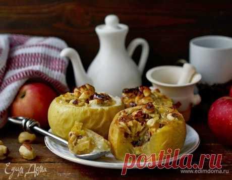 Как приготовить Запеченные яблоки с ореховой начинкой Пошаговый рецепт с ингредиентами и фото