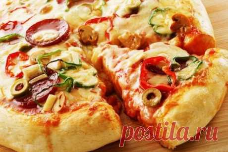 Пышная домашняя пицца, рецепт с фото — Вкусо.ру