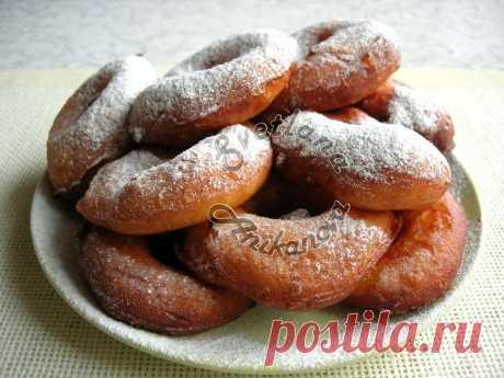 Пончики в ложке – пончики без раскатывания теста. Они получаются очень воздушными, тесто просто как ка пух!