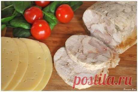 ¡Vysokobelkovyy el panecillo de gallina - la sustitución excelente al embutido!