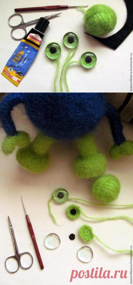 Делаем глазки для вязаных и текстильных игрушек — простые и почти универсальные