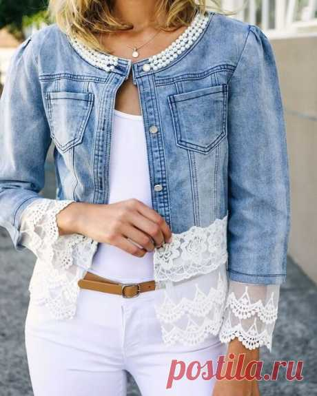 5 идей переделки джинсовой куртки. Получится дизайнерская вещь   Провинциалка в теме   Яндекс Дзен