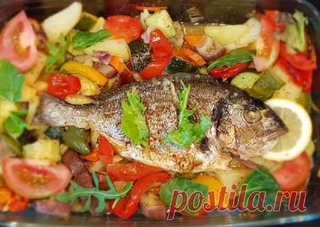 (3) Дорада с овощами - пошаговый рецепт с фото. Автор рецепта Вера Мухина . - Cookpad