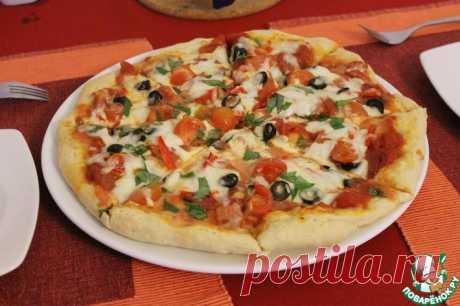 """Пицца с салями и перцем пепперони """"Как в Италии"""" Кулинарный рецепт"""