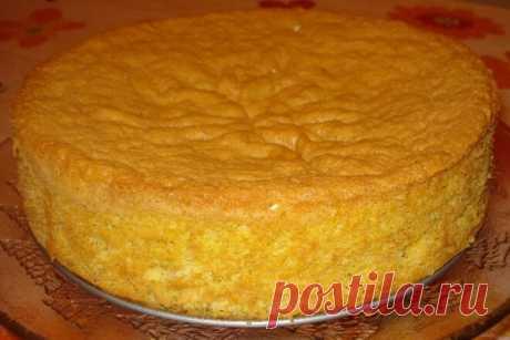 Классическое бисквитное тесто для торта