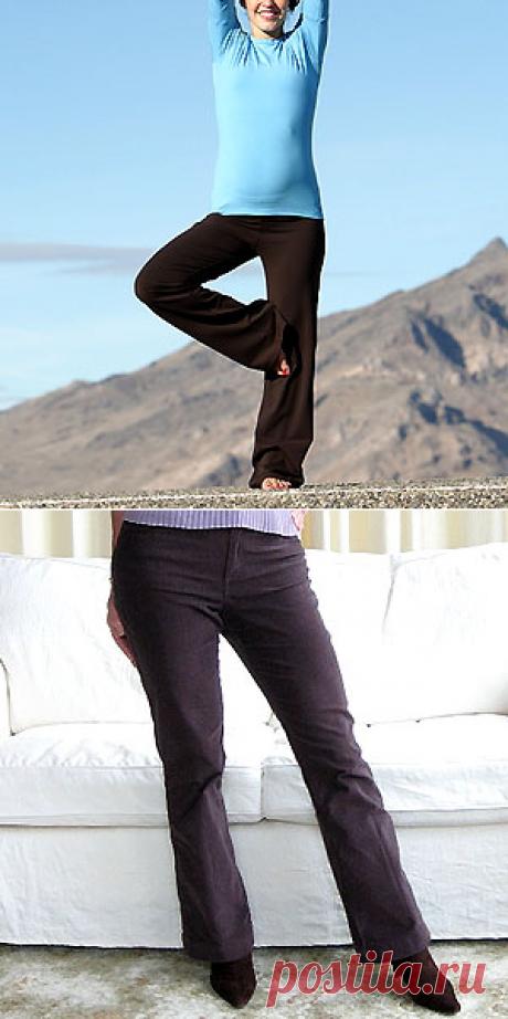 Понадобились новые брюки - и я сшила их сама! Часть 1. | Шитье от начинающей - начинающим: строим выкройку брюк и шьем их сами!