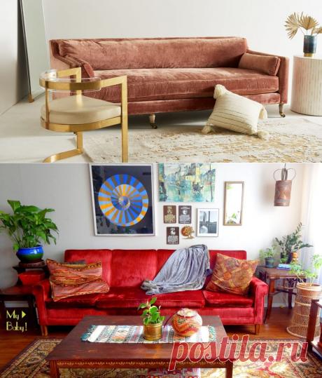 15 крутых велюровых диванов 2020 года   House.Academy