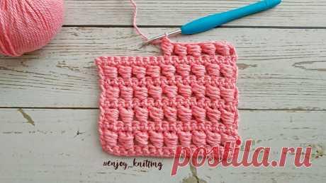КРАСИВЫЙ И ПРОСТОЙ Узор Крючком / How to Crochet Bead Stitch Tutorial Количество воздушных петель кратно 2. Полное описание - https://zen.yandex.ru/media/id/5ce3aa43bf108700b240aa83/krasivyi-i-prostoi-uzor-kriuchkom-5e7e5cfb018...