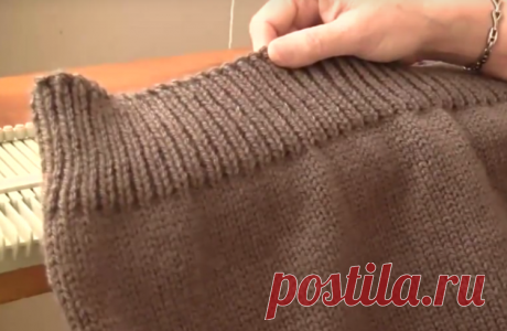 """AS IT IS BEAUTIFUL TO EXECUTE \""""ELASTIC BAND\"""" ON THE DETAIL BOTTOM IF IT KNIT FROM TOP TO DOWN. VIDEO - MK"""