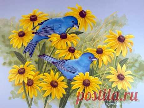 Песня весенняя птиц за окном... Художник Джон Френч Слоан