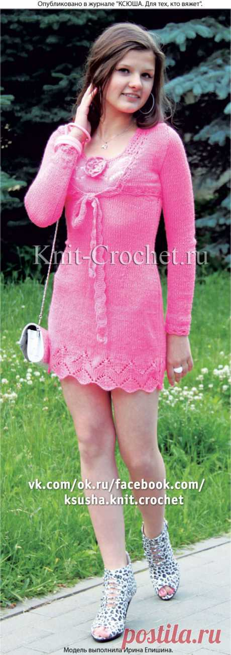 Платье летнее и жакет-болеро спицами.