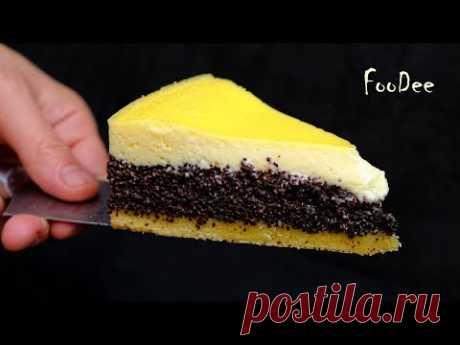 """Пирог """"Три слоя"""" - Очень нежный и вкусный пирог с маком / Маковый пирог"""