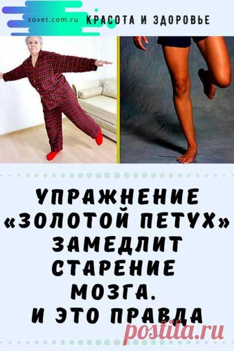 упражнение «Золотой петух» замедлит старение мозга. И это правда.