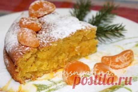 Пирог с мандаринами: готовить легко, есть вкусно!