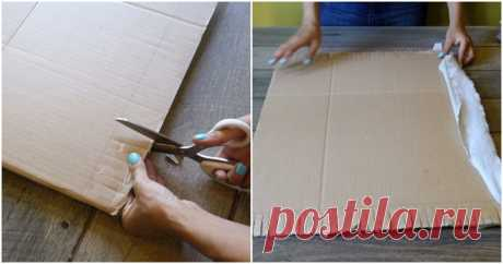 Картон и небольшие полоски из ткани помогут сделать стильным ваш интерьер ...